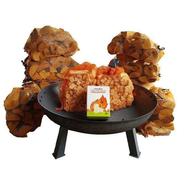 large cast iron fire pit bundle
